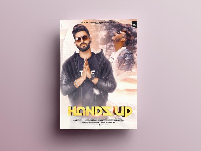 Hands Up Poster Design
