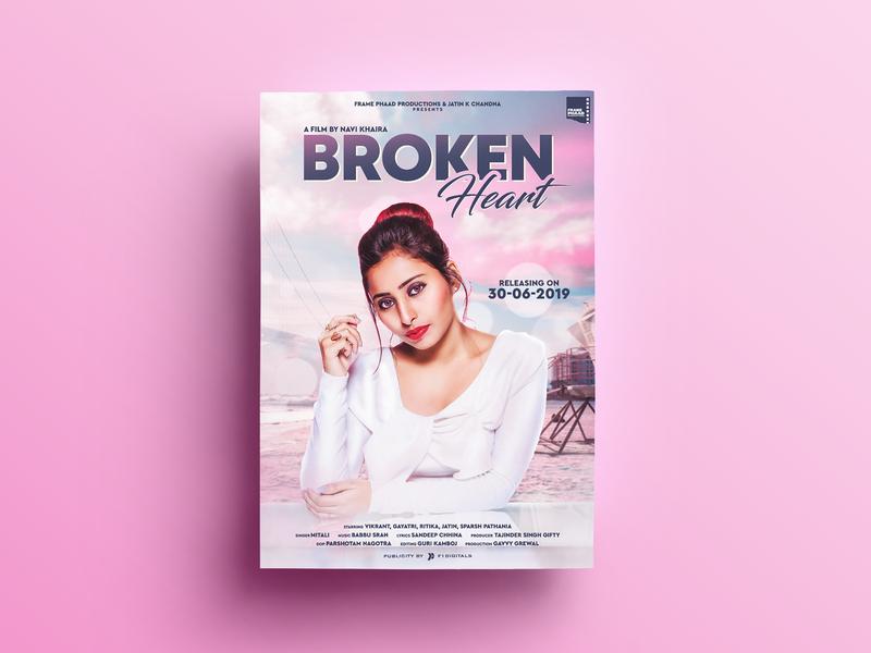 Broken Heart Poster Design
