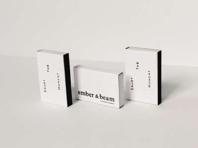 Ember and Beam Matches logo product design logo design brand identity design logotype branding and identity brand identity brand direction branding agency packagingpro candle branding packaging packagingdesign