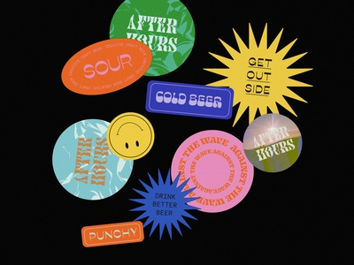 Sticker design logo design creative direction branding design brand identity branding and identity branding branding agency brand direction merch design brand merch sticker design stickers