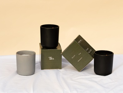 Box design for Ember & Beam branding brand identity design creative direction logotype brand identity branding and identity brand direction branding agency candle brand candle packaging packaging design packaging