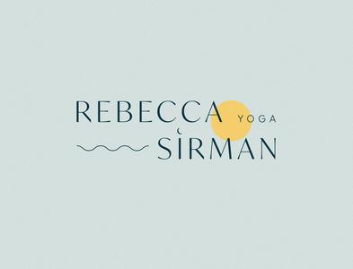 Logo design for Rebecca Sirman Yoga brand identity design creative direction typography brand identity branding branding and identity branding agency brand direction branding design logolove logo design logotype