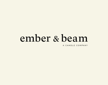 Brand design and developement for Ember & Beam typography product photography product styling packagingdesign logo design branding design logotype branding and identity brand direction branding agency brand identity candle brand branding
