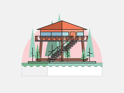 Homes - Firewatch location firewatch flatdesign 2d illustration