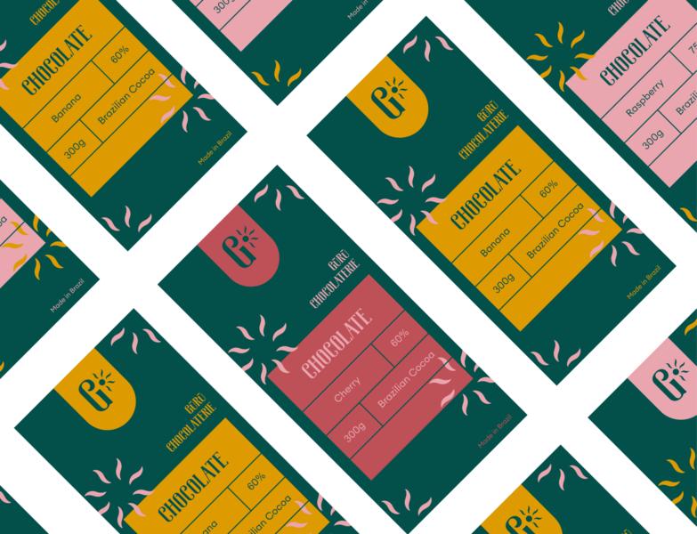 Guru Chocolate packaging vector corporate identity design branding