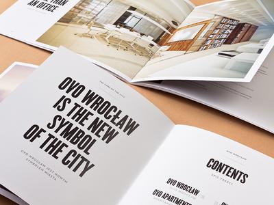 OVO Wrocław - Brochure real estate brochure editorial design unifikat studio logo identity design branding