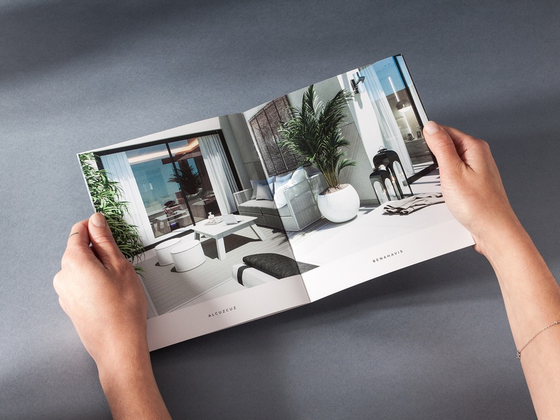 NOU – Alcuzcuz | Benahavis luxury brand apartments brand materials brochure design brochure unifikat editorial luxury branding editorial design apartment real estate identity design