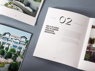 NOU – Alcuzcuz   Benahavis unifikat apartments brochure brochure design editorial brand materials luxury brand typography luxury editorial design apartment real estate identity studio branding design