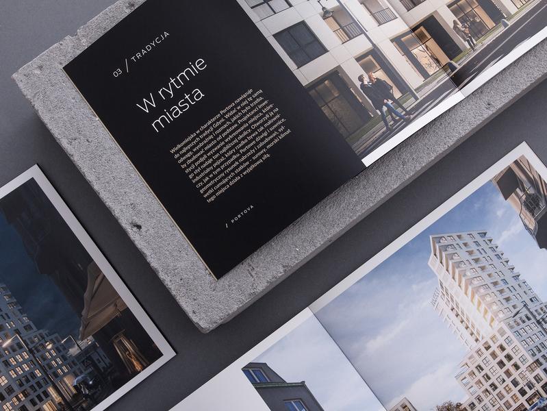 Portova Project - Brochure album branding brochure design brochure luxury typography apartments editorial design apartment real estate studio unifikat design