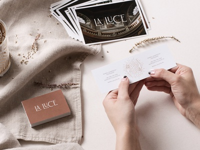 La Luce - Wedding Photography illustration brand materials typography luxury logo identity studio branding unifikat design