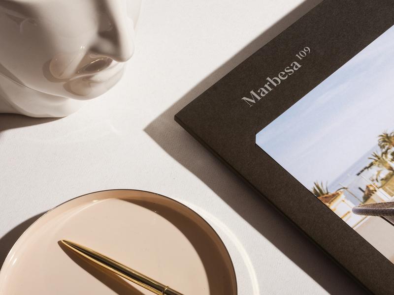 Marbesa 109 brochure design apartments real estate unifikat luxury logo studio identity branding design