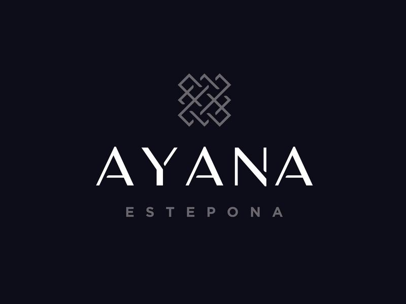Ayana Estepona apartments real estate brand materials luxury logo identity studio branding unifikat design