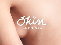 Skin - Med Spa luxury cosmetics brand materials typography logo branding design