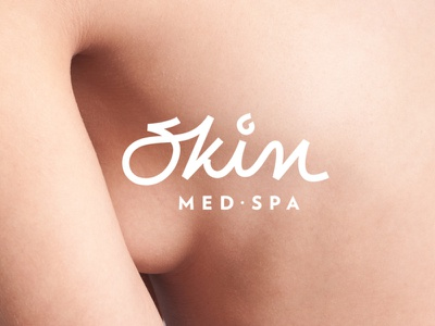 Skin - Med Spa luxury cosmetics brand materials typography logo branding design