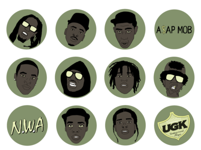 Rapper Icon Set