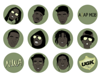 Rapper Icon Set
