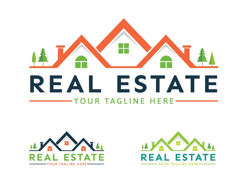 real estate logo by tanvir ahmed dribbble dribbble