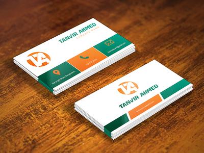 Business card by tanvir ahmed dribbble business card reheart Choice Image