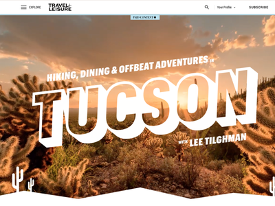 Visit Tucson: Hiking, Dining & Offbeat Adventures in Tucson branding web ux design
