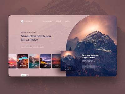 Concept for travel agency for eldery people travel adobexd webdesign ui