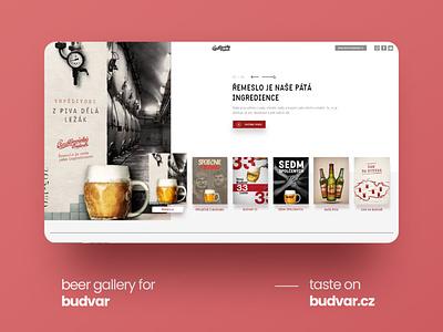 Official website for Budvar Czech Republic (Best beer country) web ux webdesign adobexd ui