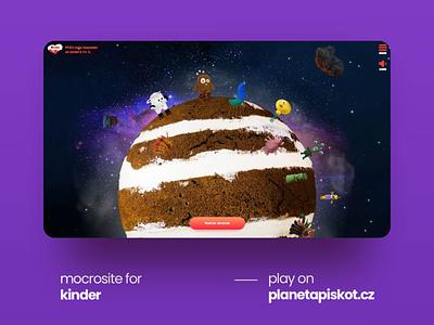 Kinder competition microsite kinder food children competition webdesign ux design ui design ui