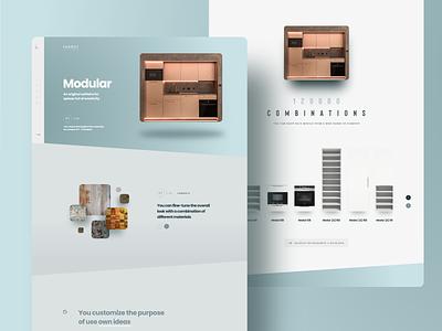 Target Kitchen czech prague minimalistic kitchen furniture teal adobexd webdesign web ui