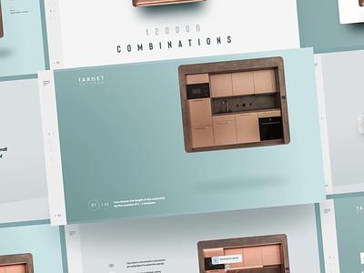 Target Kitchen animation minimalistic furniture target kitchen design prague czech adobexd web webdesign ui