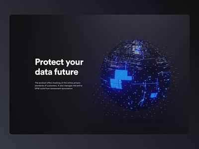 Van Starguard prague czech blue dark black sphere starwars futuristic data star blender 3d animation webdesign web ui