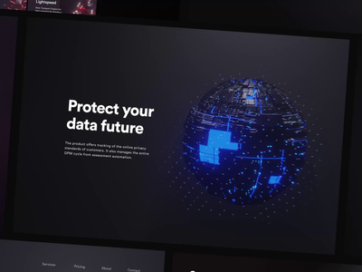 Van Starguard microsite protection data future futuristic blue dark darkui starwars universe stars animation adobexd prague czech ui web webdesign