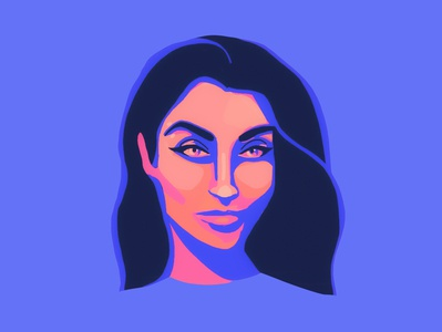 Self portrait illustration blue and orange woman illustration woman portrait portrait illustration illustration design illustration art color blocking colorful neon popart superhero woman digital illustration ipad procreate self portrait character portrait illustrator illustration