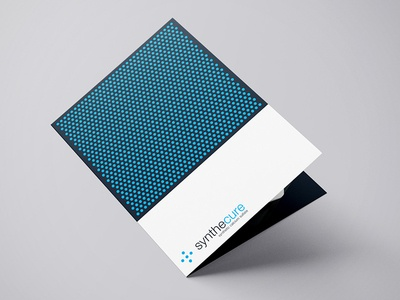 Synthecure Brochure medical simple white clean publication print brochure design minimalism minimal
