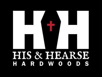 His And Hearse Logo dark furniture design logo