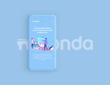Responsive Landing Page for Bonda™