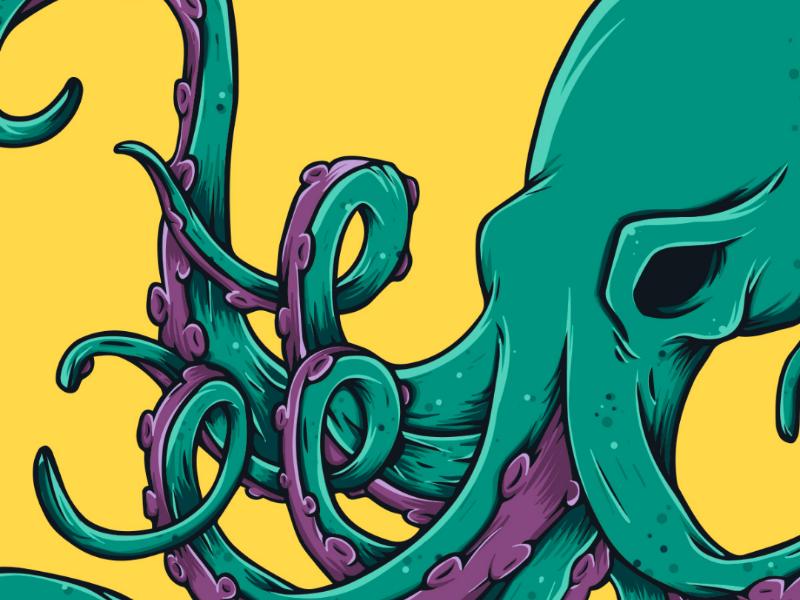 Octopus Illustration design color art illustration vector