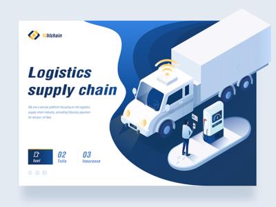 supply chain Web design interesting ux refuel supply chain 2.5d web design blue logistics