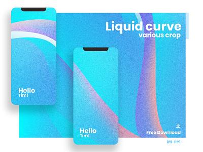 Liquid Curve Background background gradient design graphic