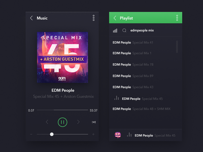 Music Player [Rebound and Freebies]  freebies free psd music player ios iphone flat ios7