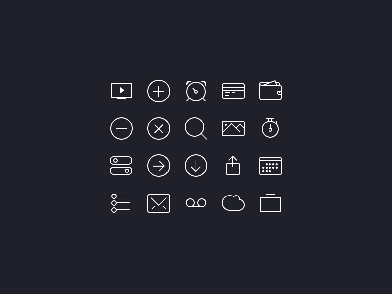 icons ios7  freebies  by anton skugarov