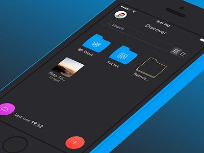 Keep Secret App         ios iphone ipad keep flat