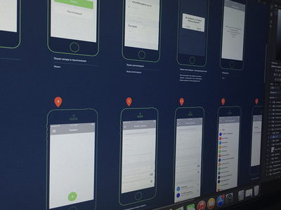 Secret App Wireframes iphone ipad ios app wireframes