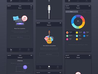 Music App [WIP] ux ui graph iphone ipad color ios