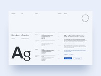 Typeface explorations for UpGuard