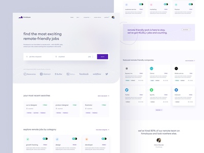 himalayas.app — home concept 🏔 minimal minimalism simple clean ui webdesign brand identity webflow landing page clean searchbar search jobs jobsite jobs board minimalist light modern search field hiring home