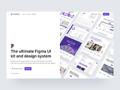 🎉 Announcing Untitled UI template clean ui simple web design design systems header home page landing page website design brand identity minimalism minimal webflow figma ui kit design system