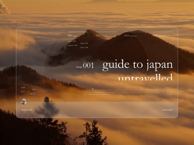 Daily UI 003 – Travel guide landing page