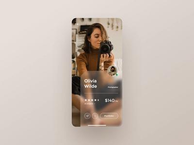 Daily UI 006 – Freelance app user profile