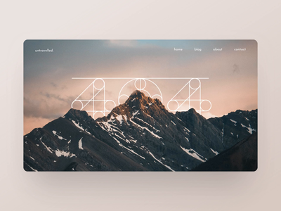 Daily UI 008 – Parallax scroll 404 page