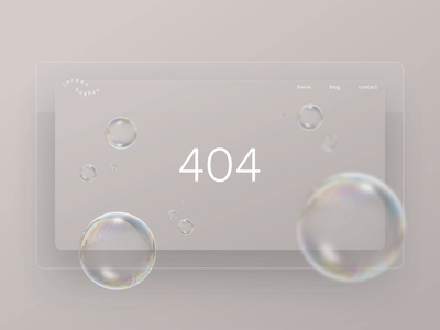 Daily UI 008 – Abstract 404 page