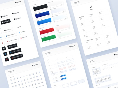 Design system for UpGuard input cards form field grid form lato typography color palette webflow marketing site ui  ux ui design icon set template style guide design system brand identity figma ui